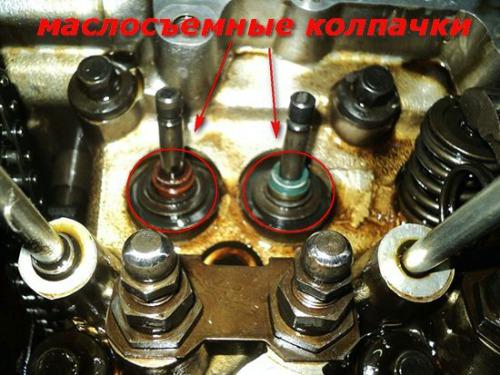 Устранение чрезмерного расхода масла двигателем